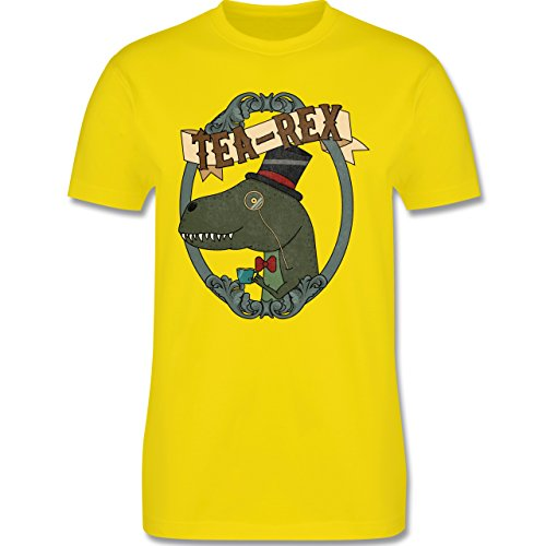 Comic Shirts - Tea-Rex - Herren Premium T-Shirt Lemon Gelb
