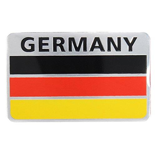 YONGYAO Paar 3D-Aluminium Deutschland Flagge Abzeichen Emblem Autoaufkleber Decal Dekoration