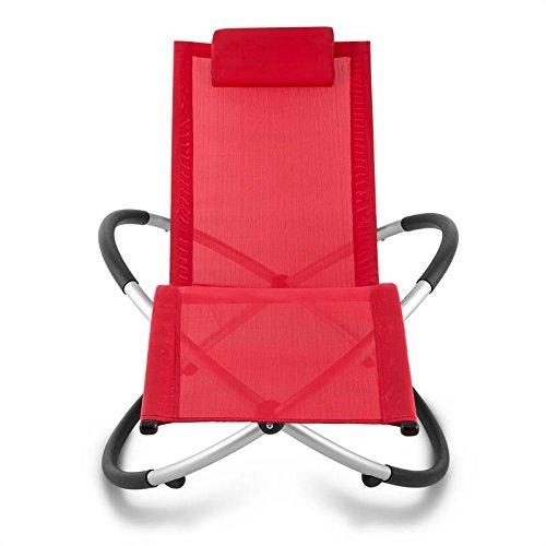 Blumfeldt Chilly Billy • Chaise relaxante • Forme Ergonomique • en Tube d'aluminium • Tissu synthétique Respirant • Facile d'entretien • Pliable • Résistant aux intempéries • Rouge écarlate