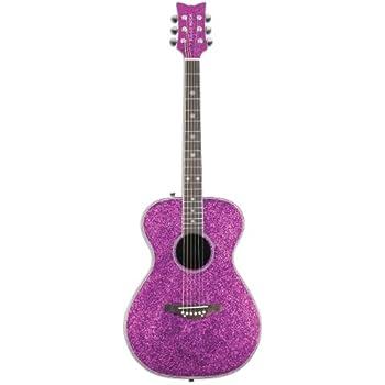 daisy rock pixie acoustic electric guitar pink sparkle musical instruments. Black Bedroom Furniture Sets. Home Design Ideas