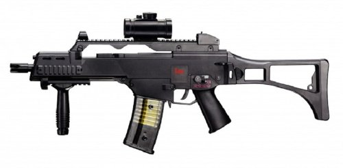 REPLIQUE FUSIL A BILLES G36C AEG NOIR SEMI FULL AUTO HOP UP H&K 0.5 JOULE UMAREX 25621 AIRSOFT