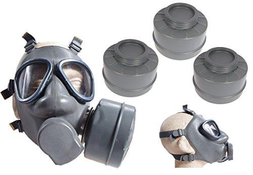 Finnische Schutzmaske US Modell M9 mit 3 Filtern neuwertig Gasmaske ABC-Ausrüstung