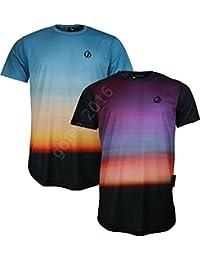 "NEW MENS CRIMINAL DAMAGE T-SHIRT ""Sunrise"" All-Over Printed Graphic Designer Tshirt"