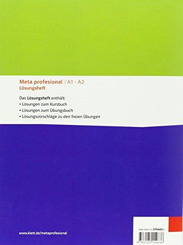 Meta profesional A1-A2: Spanisch für den Beruf. Lösungsheft (Meta profesional / Spanisch für den Beruf) - Bild 2