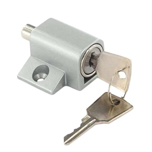 Bulk Hardware bh05713Terrasse Schiebetür Schloss und Schlüssel–Chrom matt