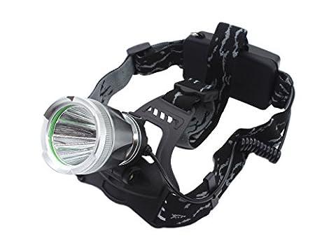 Genwiss 3000 Lumen CREE T6 LED Stirnlampe Big 3 Schalter Modus Stark Normal Flashing Scheinwerfer Aluminium-Legierung für Camping Biking Jagen Fischen Reiten (Inklusive Akku und Ladegerät)
