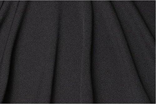 YuanDian Donna Autunno Casuale Doppio Petto Slim Fit Maniche Lunghe Blazer Lavoro Affari Elegante Signora Tailleur Giacchino Giacca Nero