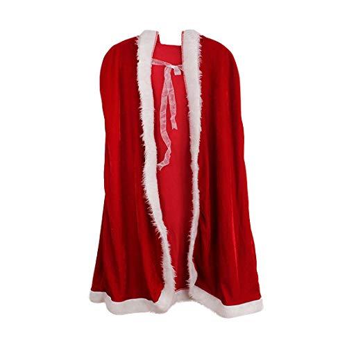 Zhuhaijq Wunderschön Rot Kap Kapuzenumhang für Weihnachten Halloween -