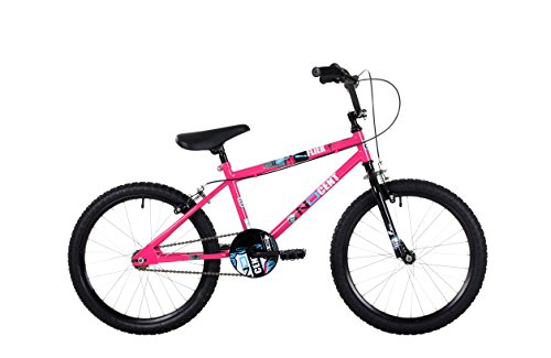 NDCent ND004 Flier BMX Bike, 20 inch Wheels - Pink/Blue
