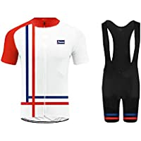 Uglyfrog Maglia da Ciclismo Manica Corta Uomo con Pantaloncino con Bretelle  da Bici Abbigliamento Tute Traspiranti fccb570a93e