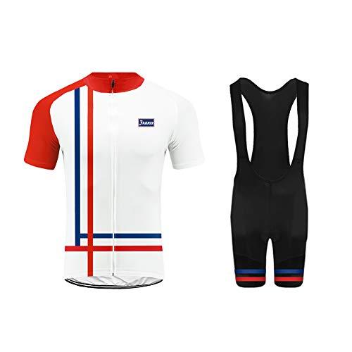 Uglyfrog Deutschland Farbabstimmung der Flagge ES/CH/DE/UK/US Herren Sport Top Trikot Men\'s Bike-T Full Zip +Bib Kurze Hosen with Gel Pad Anzüge for Rennen