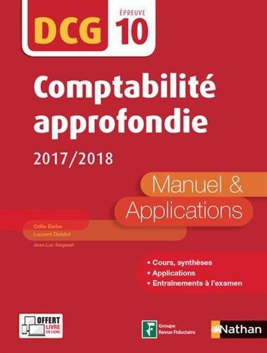 Comptabilité approfondie - DCG 10 - 2017/2018