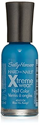 Sally Hansen Hard as Nails Xtreme Wear, Blue Me Away, 0.4 Fluid Oz, 2 pack