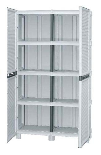Mobile resina 100x172 made in italy per esterno armadio pvc da giardino 2modelli