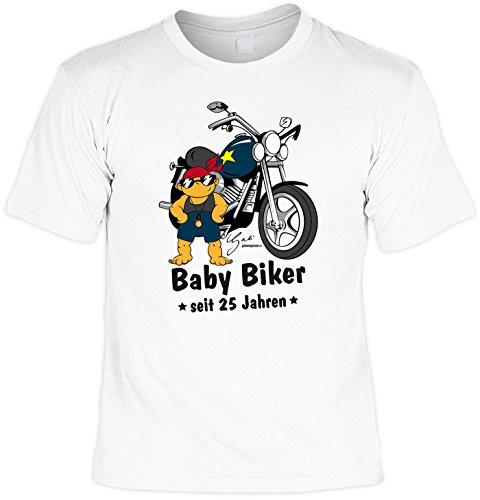 T-Shirt zum 24. Geburtstag Baby Biker Laiberl Geschenk zum 24 Geburtstag 24 Jahre Geburtstagsgeschenk 24-jähriger Bruder Freund Weiß