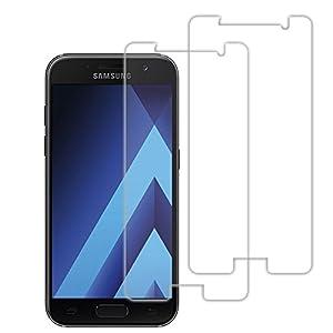 Samsung A5 2017 Schutzfolie, Acelive 2 Stück Gehärtetem Glas Panzerglas Displayschutzfolie Folie für Samsung Galaxy A5 2017(Bewusst Kleiner Als Das Display, Da Dieses Gewölbt Ist)