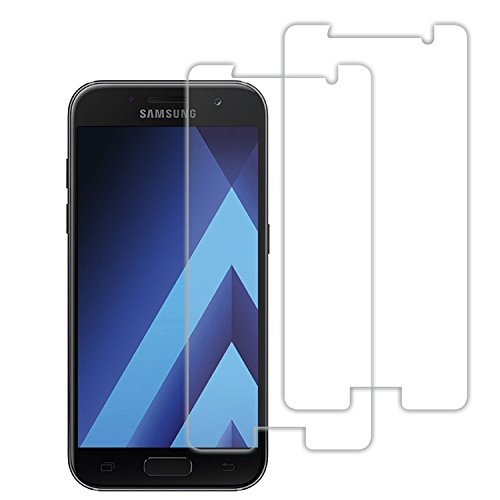 Samsung A3 2017 Schutzfolie, Acelive 2 Stück Gehärtetem Glas Panzerglas Displayschutzfolie Folie für Samsung Galaxy A3 2017(Bewusst Kleiner Als Das Display, Da Dieses Gewölbt Ist)