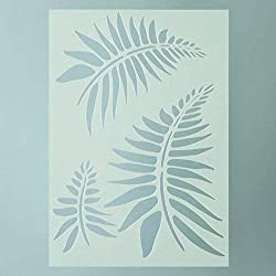 efco Schablone Farn in 3Designs, Kunststoff, Transparent, A5