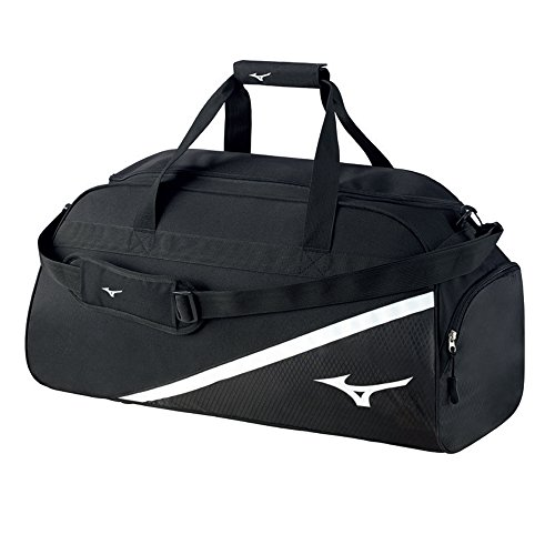 Mizuno - Bolsa de deporte con logotipo Holdall, tamaño medio, negro