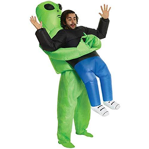 Lustige Grün Aufblasbare Kostüm - VCXZ Aufblasbares Kostüm Grün Alien Lustige Blow Up Anzug Party Kostüm Unisex Kostüm Halloween Kostüm,Green