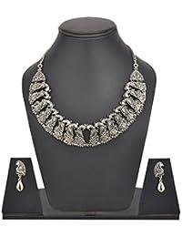 Innovaze German Silver Boho Necklace Set For Women Gypsy Stylish Necklace