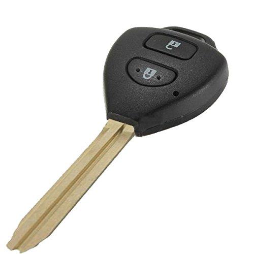 CALALEIE Portachiavi a distanza Shell 2 pulsanti for Toyota Camry Corolla Hilux Prado Strumento ricambi auto