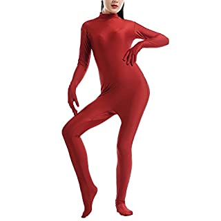 Unisex Halloween Jumpsuits Adult Stage Costume Party Outfit Dark Red S