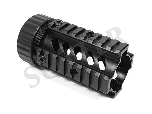 Quad Rail Handguard System 115mm - 4x21mm Profilschiene - Montageschiene für Zielfernrohr RedDot Zielvisier (Quad Rail Ar)