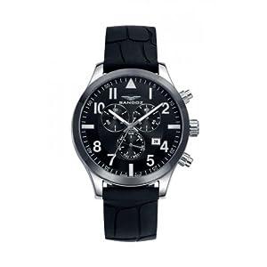 Sandoz 81397–57Hombre Negro Reloj analógico de cuarzo