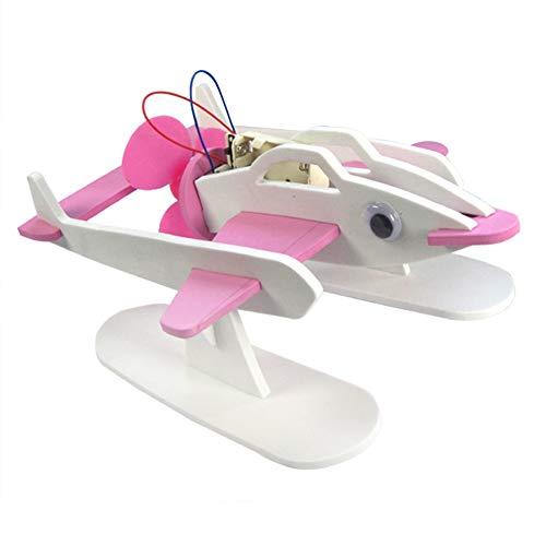 Steellwingsf Fliegender Fisch Roboter Schiff Spielzeug, Air Power Fying Fish Roboter Schiff Montage Spielzeug Wissenschaft Experiment Bildung Modell
