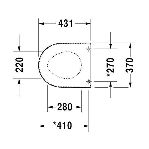 Duravit 63890000 WC-Sitz Starck 3 Soft Close Scharniere Edelstahl mit Deckel, weiß