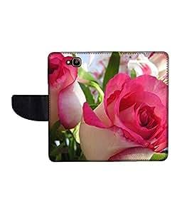 KolorEdge Printed Flip Cover For Huawei Honor Holly -Multicolor (50KeMLogo11199HonorHolly)