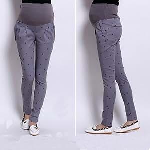 Abjustable Pregnant Women Abdominal Maternity Pants Belly Leggings Trousers - Gray - M