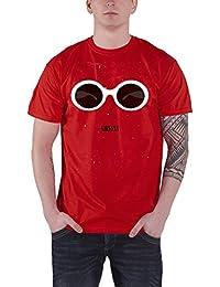 Nirvana T Shirt Rouge Sunglasses Band Logo Nouveau Officiel Homme