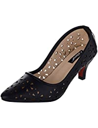 SHERRIF SHOES BLACK LOW HEELED PUMPS