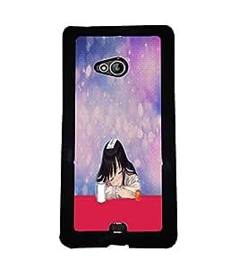 Fuson 2D Printed Girly Designer back case cover for Microsoft Lumia 540 - D4613