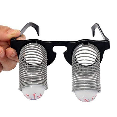 KODORIA Googly Eye Glasses Lustige Disguise Gläser GOO GOO Augengläser Frühling Augapfel Gläser Horror Shock Lustige Disguise ()