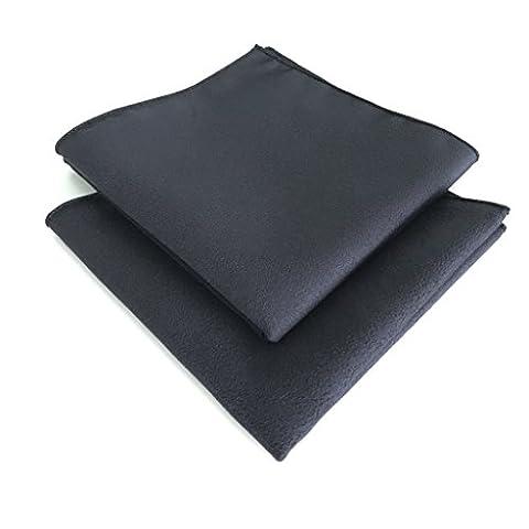 Blum - Lot de 2 chiffons microfibres taille 30x30 cm - couleur noir - Parfait pour le nettoyage d'écran et toutes les surfaces de Apple iPhone | iPad | iPad Mini | iPad Air | iPad Pro | iMac | MacBook | MacBook Air | MacBook Pro | Watch