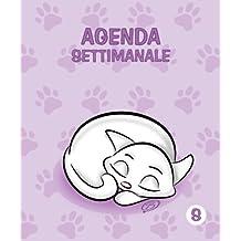 Agenda settimanale - S: Colore Orchidea - Gatti - Perpetua (Senza date) - 12.5x15 cm