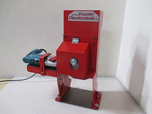 E-KNACKI elektrische Walnuss Knackmaschine für Bohrmaschine- Wal Man - das Original Made in Germany Der Profi Nussknacker zum einfachen knacken von Wal- und Haselnüssen (Model 2019) Rot