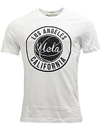 UCLA - T-shirt - Solid - Col Chemise Classique - Manches Courtes - Homme