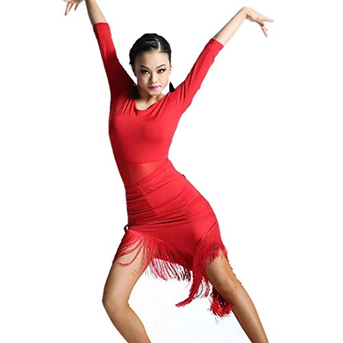 Verkauf Für Kostüm Latein - Wgwioo Latein Erwachsene Frau Sue Kostüm Kleid Schulter, Red, F