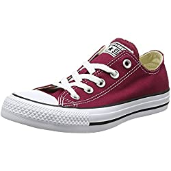 Converse Chuck Taylor All Star, Sneakers Unisex, Rosso (Bordeaux), 37 EU
