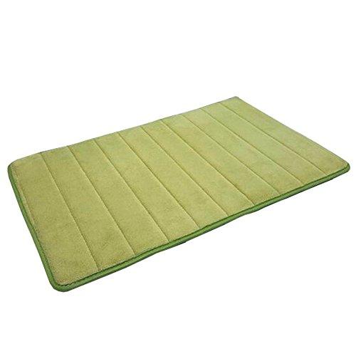 aikesi rutschfest Vertikale Streifen Memory Foam Pad Koralle Künstlich hergestellte Fasern Bad WC Küche Teppich 40 × 60 cm grün -