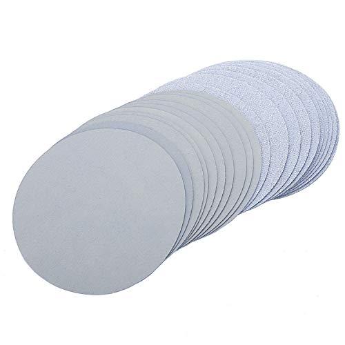 150 Grit-hook (25pcs 6 Zoll 150mm Runde Sandpapier Disk Sand Blätter Grit 5000 Hook Loop Schleifscheibe für Sander Grits-Single Grit Set)