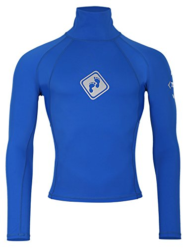 Blau Thermal Long Sleeve Top (Two Bare Feet Rash Vest Long Sleeve, Unisex-Erwachsene, Größen Top Strand Lycra LSF 50 Blau blau XX-Large)