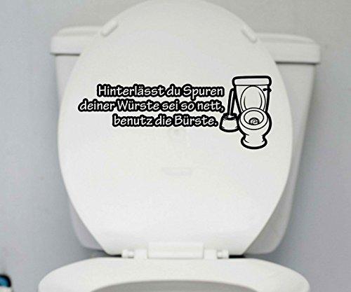 WC Deckel Aufkleber 25x10cm 'Supren' Toiletten Spruch Badezimmer Sticker 1K220