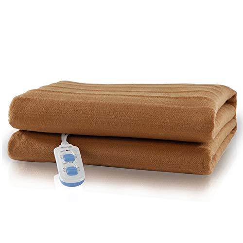 Hot-bed scaldasonno sensitive matrimoniale, tessuto anallergico, coprimaterasso maxi 150 x 120 cm, 6 temperature, risparmio energetico, lavabile in lavatrice,d