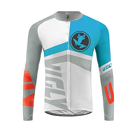 Uglyfrog HLDT06 Bike Wear Herren Langarm, Thermo-Fahrrad-Jersey, Lycra Selected Fabrics, Thermo Fleece Trikots & Shirts -