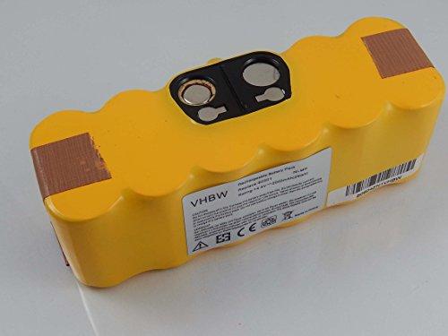 Preisvergleich Produktbild vhbw NiMH Akku 2000mAh (14.4V) für Staubsauger iRobot Roomba 581, 582, 583, 590, 605, 610, 615, 616, 620, 621, 625, 630 wie 11702, VAC-500NMH-33.